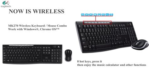 logitech mk270 wireless keyboard mouse combo
