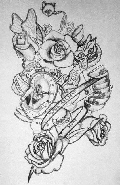 drawing  alice  wonderland tattoos tattoo ideas