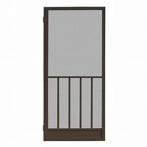 unique home designs 32 in x 80 in coronado bronze With unique home designs screen door