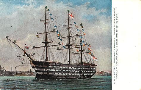 hms victory portsmouth harbour flying nelsons famous