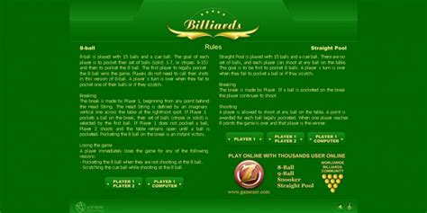 jeu billard billiards gratuit en ligne