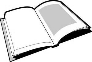 Open Book Clip Art Black and White