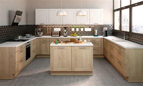 cuisine bois clair tendance des cuisines aux façades en bois clairs et bois