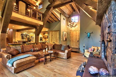 Mountain Style Home Decorated In Rustic Style