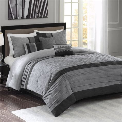 modern comforter set beautiful modern contemporary grey black soft textured comforter set ebay