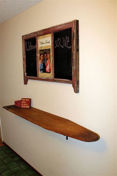 shelf    wooden ironing board upcycle recycle