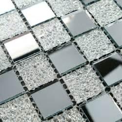 mirror kitchen backsplash glass tiles sheet mosaic wall sticker
