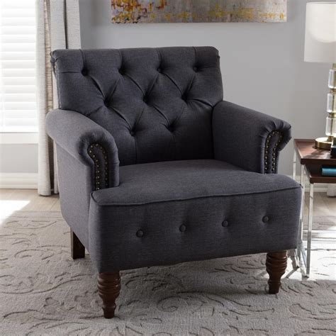fabric side chairs baxton studio christa gray fabric upholstered accent 3652