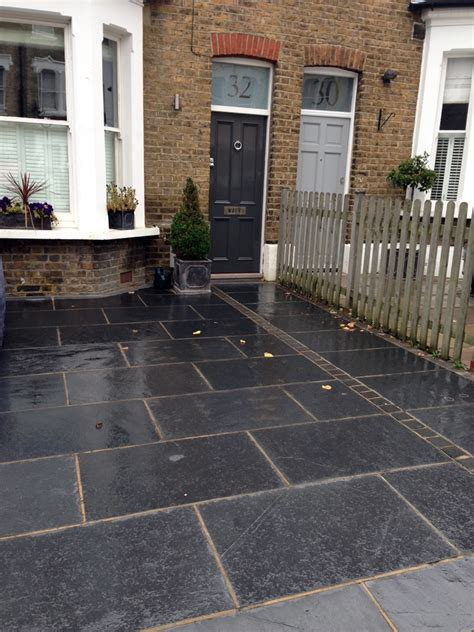 paving designs for front gardens driveway london garden design