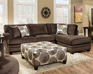 Brown soft microfiber groovy chocolate two piece for Chocolate brown microfiber sectional sofa