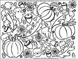 Coloring Fall Pages Nature sketch template
