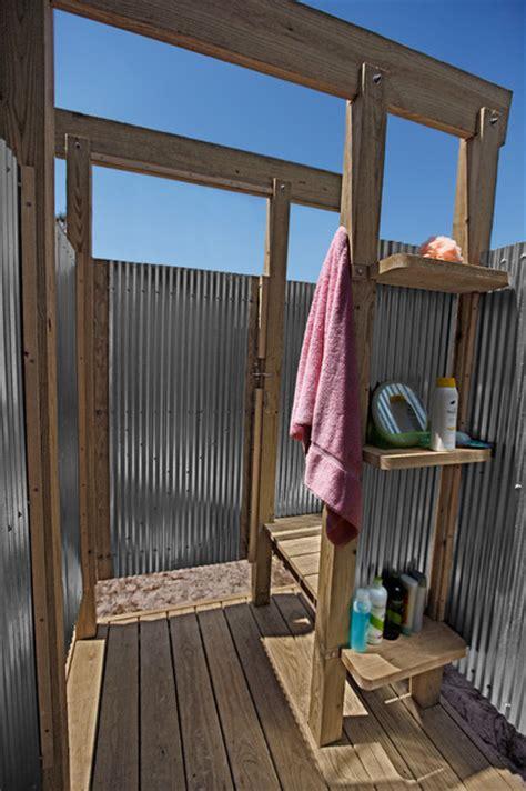 oak outdoor shower eclectic pool york by b r a d j e n k i n s i n c