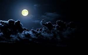 Atmospheric Phenomena: Night Landscape with a Full Moon ...