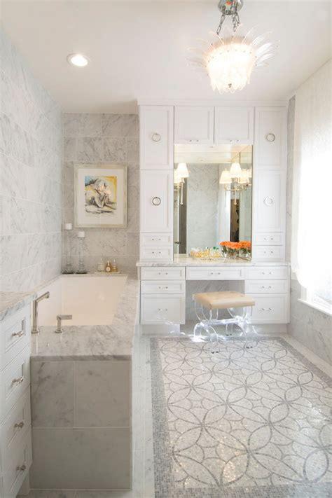 lucite vanity stool contemporary bathroom