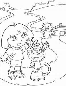 Dora Farewell Coloring Pages