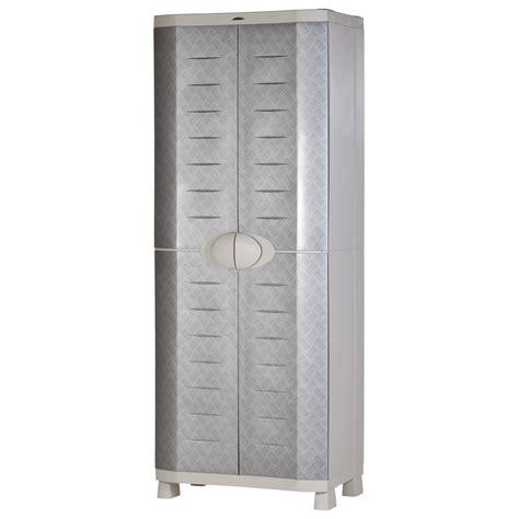 armoire haute r 233 sine 4 tablettes plastiken l 70 x h 184 x
