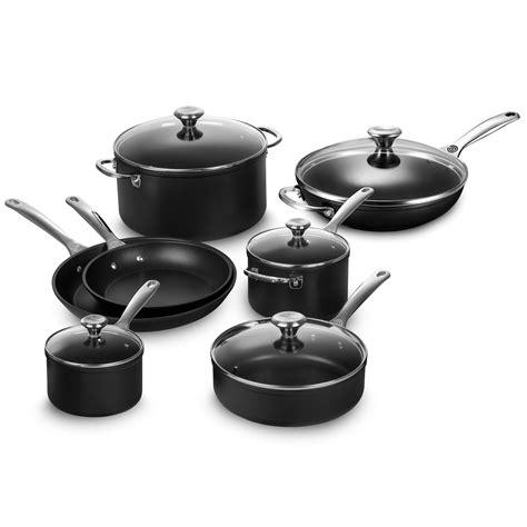 le creuset toughened nonstick pro  piece cookware set