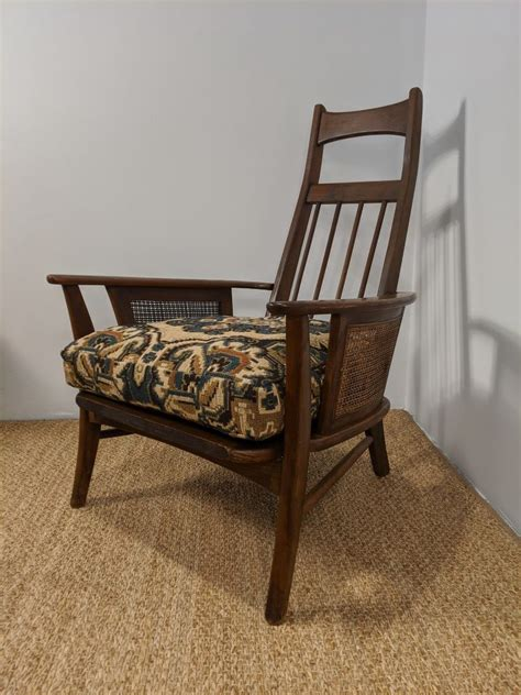 Free shipping on many items | browse your favorite brands | affordable prices. Mid Century Walnut & Rattan High-back Lounge Chair - EPOCH