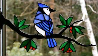 stained glass birds by chippaway glass