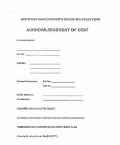 welcome to ncpetf With acknowledgement of debt template