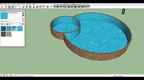 Cara Membuat Kolam Menggunakan Google Sketchup Youtube
