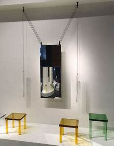 Miroir A Suspendre : miroir suspendre palanco h 125 cm double face r glable cylindres rouges c bles noirs ~ Teatrodelosmanantiales.com Idées de Décoration