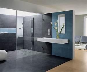 photo deco salle de bains gris visuels salle de bains With salle de bain design avec décoration fête à thème