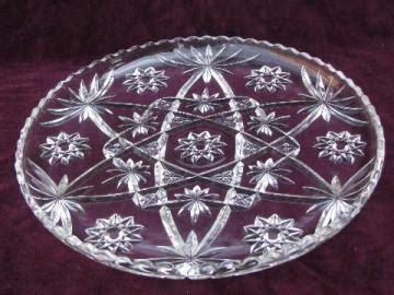 vintage glassware pressed pattern glass crystal