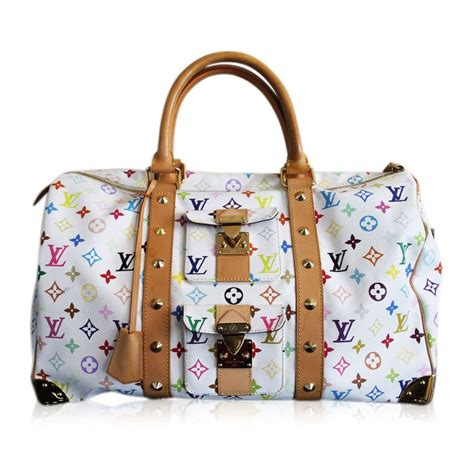authentic louis vuitton white multi colored murakami