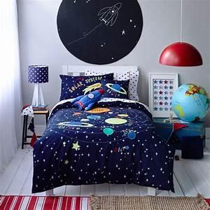 Kids Boys Solar System Linen set - Contemporary - Kids ...