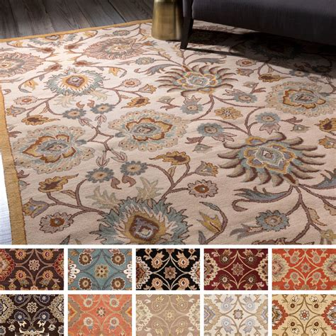 Wool Rugs by Tufted Patchway Wool Rug 9 X 12 Ebay