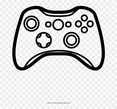 Controller Coloring Clipart Pikpng