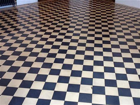 Victorian Minton tile floor cleaning, sealing & polishing