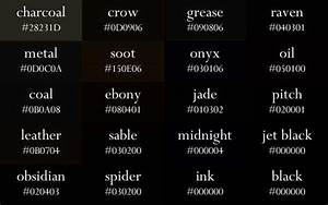 Color Names Now In Gradient Order Color Names Color