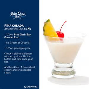 pina colada recipe blue chair bay rum drink recipes on island times us virgin islands