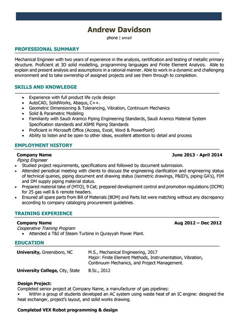 Engineering Resume by Engineering Resume Exles 2017 World Of Reference
