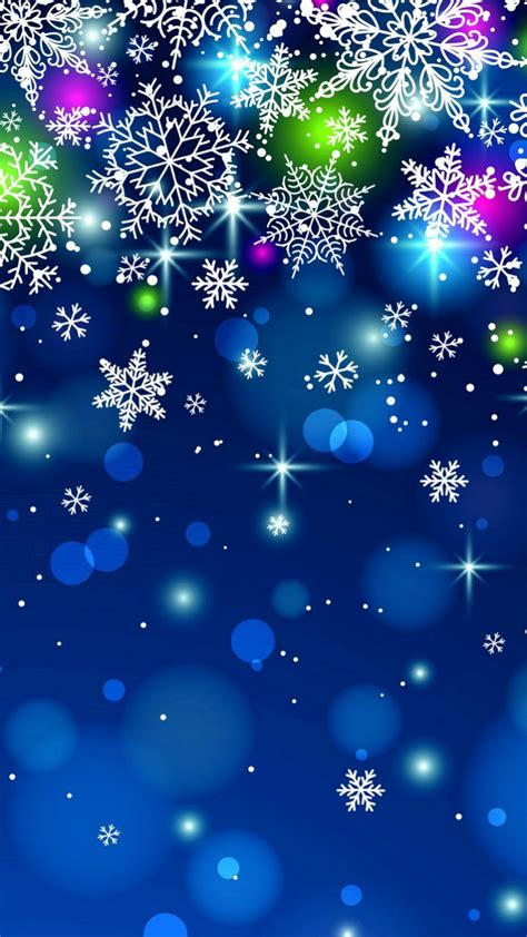 Download 720x1280 «snowflakes» Cell Phone Wallpaper