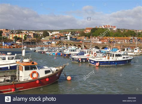 Boat Fishing Windy Harbour by Fishing Boats In Folkestone Harbour Kent England Uk