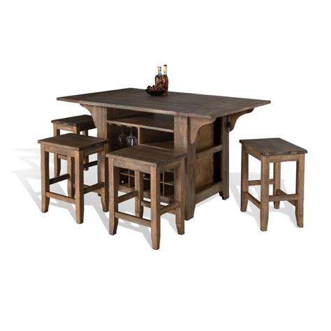kitchen island with drop leaf sunny designs puebla kitchen island with drop leaf in driftwood 1030dw