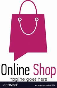 Design Online Shop : online shop logo design template royalty free vector image ~ Watch28wear.com Haus und Dekorationen