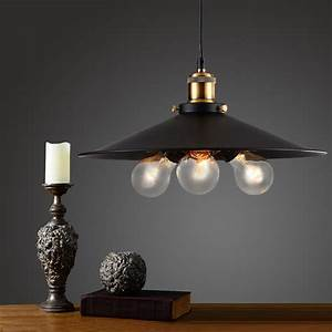 Vintage industrial pendant lamp retro metal pendants bars