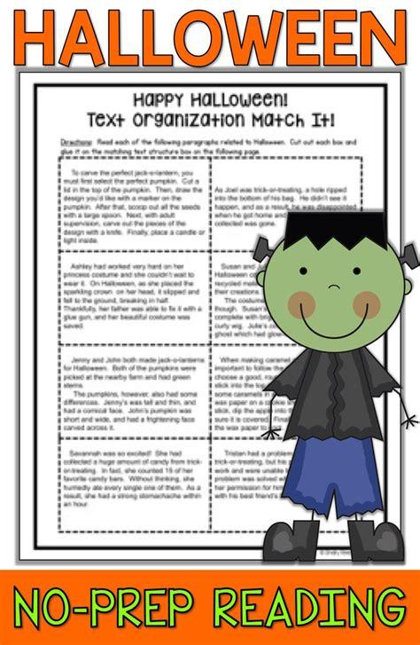 Halloween Reading Packet  Halloween Reading Comprehension Passage & Activities Halloween