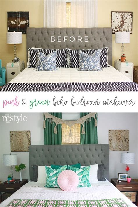 pink green boho bedroom makeover robb restyle
