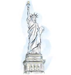 New York Statue of Liberty Cartoon Drawing