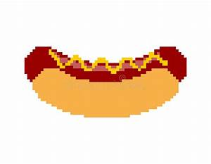 Pixel Art Manger : art de pixel de hot dog pr t manger pixelated aliments ~ Melissatoandfro.com Idées de Décoration