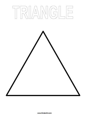 big triangle template printable triangle coloring page kinderart