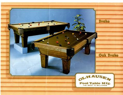 olhausen pool table models olhausen pool table model drake
