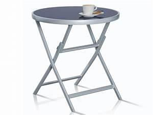 Glastisch Rund 50 Cm : aluminium glastisch gartentisch balkontisch terrassentisch rund tisch klapptisch ebay ~ Indierocktalk.com Haus und Dekorationen