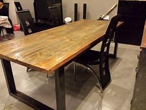 Table A Manger Industrielle : meuble industriel table de salle manger tables ~ Teatrodelosmanantiales.com Idées de Décoration