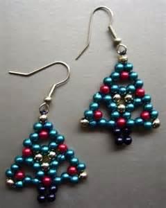 Christmas Tree Beaded Earrings Patterns Free